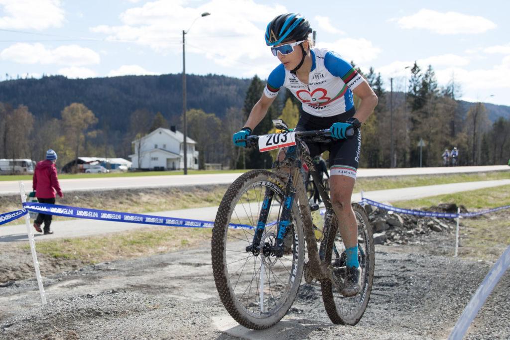 Joana Monteiro fikk testet norske forhold i Fiskum. Foto: Bengt Ove Sannes